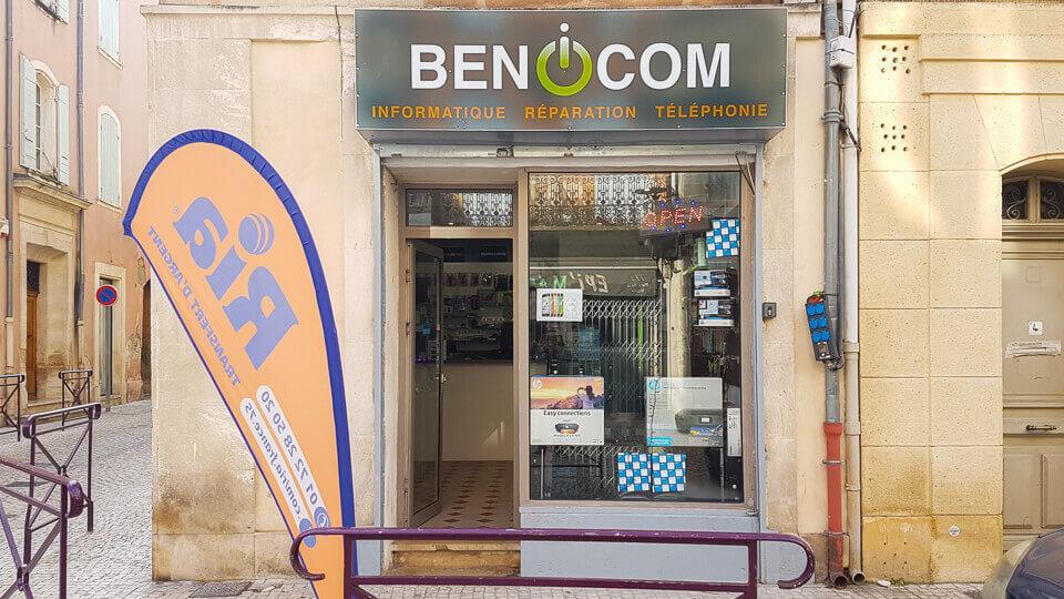 Benicom à Tarascon reparation depannage vente smartphone tablette ordinateurs