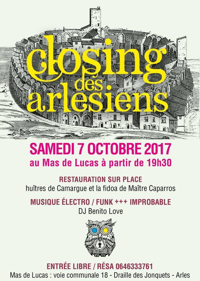 Evenement musical Arles Closing des Arlésiens 2017