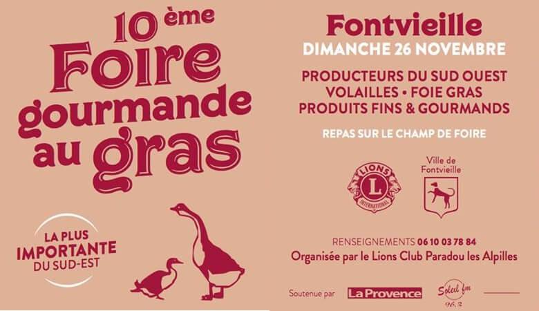 foire gourmande au gras de Fontvieille 2017