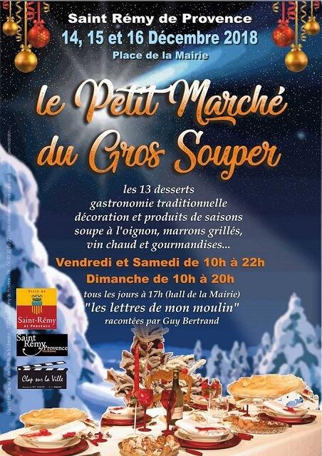 noel 2018 à Saint Rémy de Provence, le petit marché du gros souper, marché de noël provençal