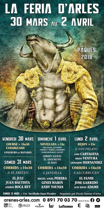 affiche feria de Paques Arles 2018