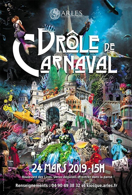 affiche carnaval arles 2019