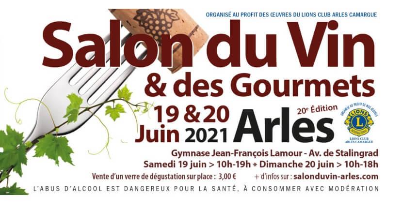 Salon du vin et des gourmets 2021 à Arles
