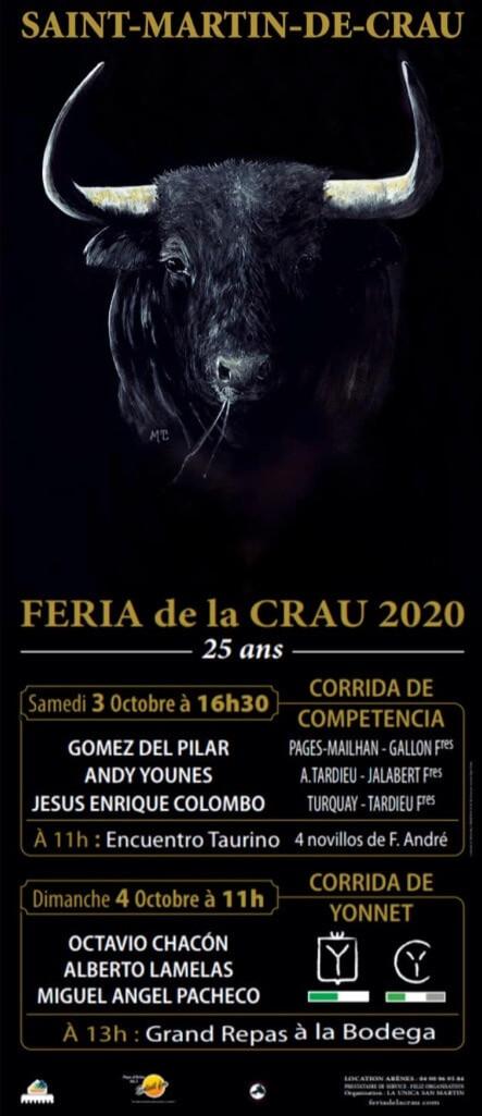Affiche Féria de la Crau 2020