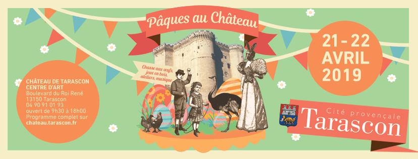 Paques au chateau de Tarascon 2019 affiche