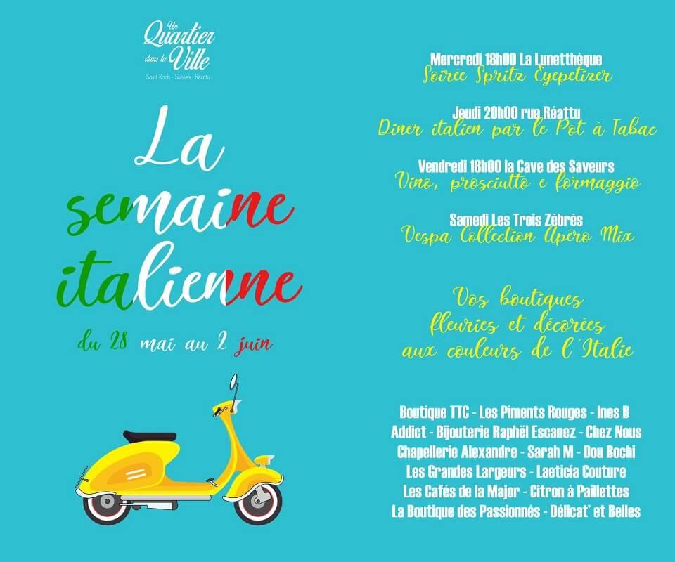 semaine italienne rue des suisses, réattu et saint roch à Arles en mai 2018