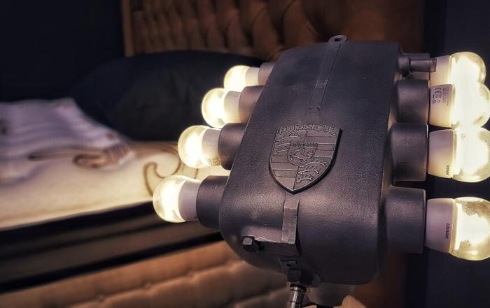 création lampe Atelier On/Off chez docks de la Literie à Arles