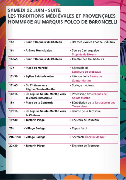 programme fetes de la Tarasque 2019 à Tarascon