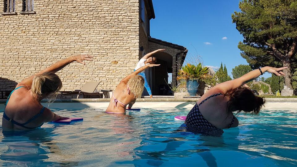 Edith Luchesi coach sportif et aqua fun à Saint Rémy de Provence dans les Alpilles