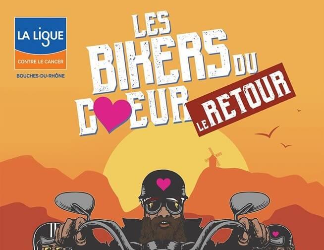 Les Bikers du Coeur 2019 à Fontvieille, grand rassemblement Harley Davidson
