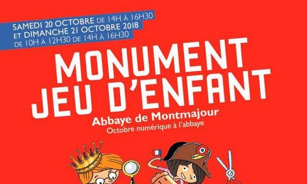 Monument Jeu d'Enfant 2018 à l'abbaye de Montmajour à Arles