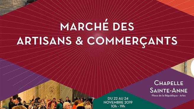 Marché de noël des commerçants arlésiens 2018 à la chapelle sainte-anne à Arles