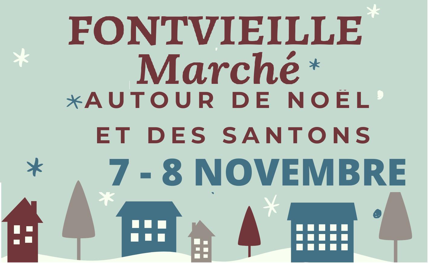 marché noël et santons à Fontvieille