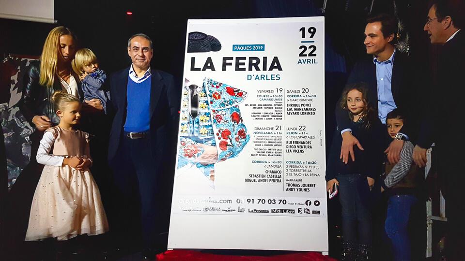 Annonce Cartels corridas feris arles 2019 chamaco et juan bautista