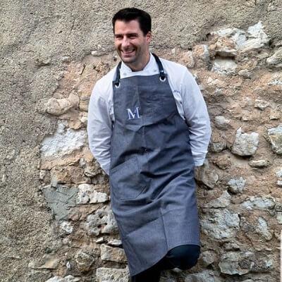 le chef Christopher Hache du restaurant étoilé La Maison Hache à Eygalières dans les Alpilles