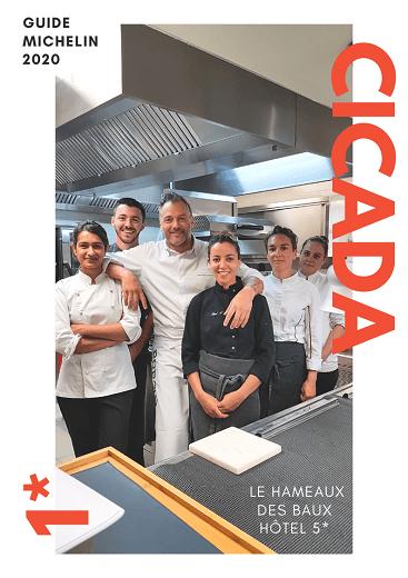 restaurant gastronomique étoilé Cicada, la table du Hameau des Baux à Paradou dans les Alpilles