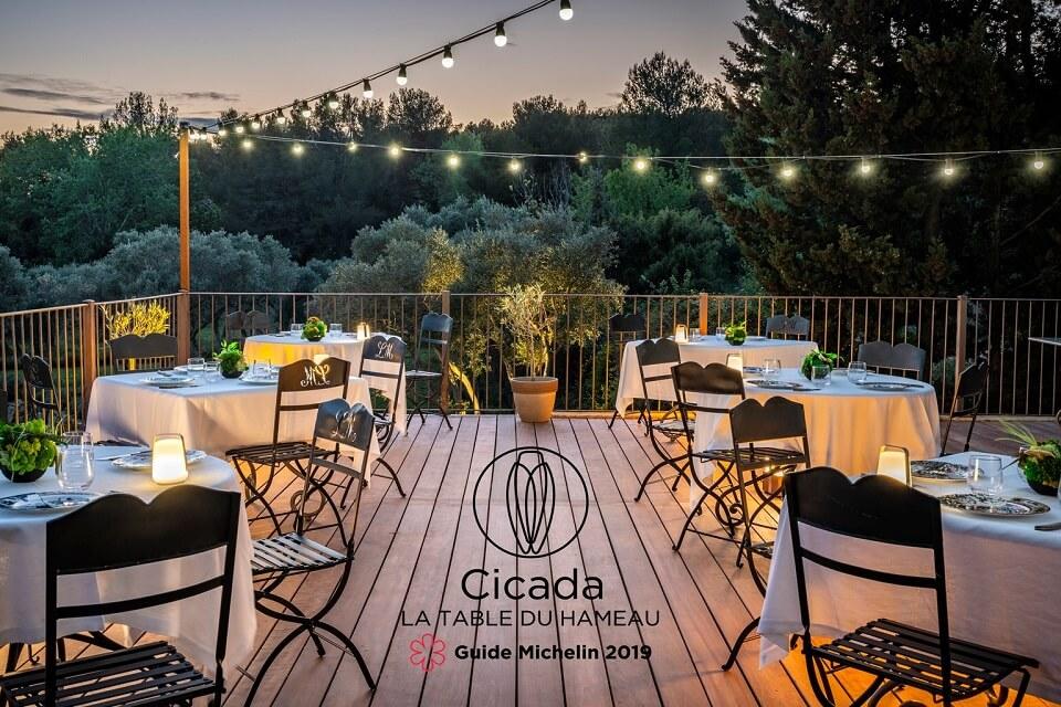 restaurant étoilé alpilles Cicacda Hameau des Baux à Paradou