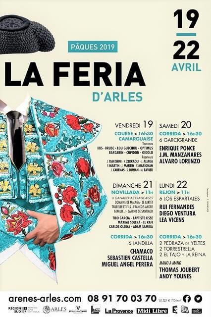 affiche corridas feria arles 2019
