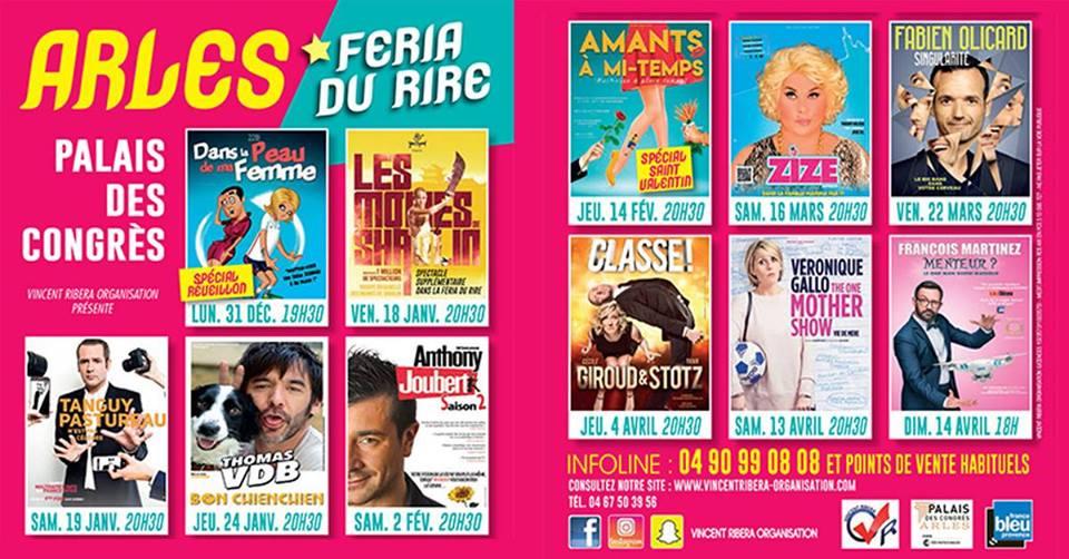affiche feria du rire 2019 à Arles