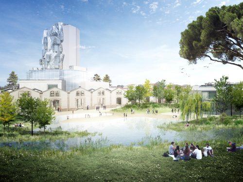 parc paysager des ateliers LUMA à Arles
