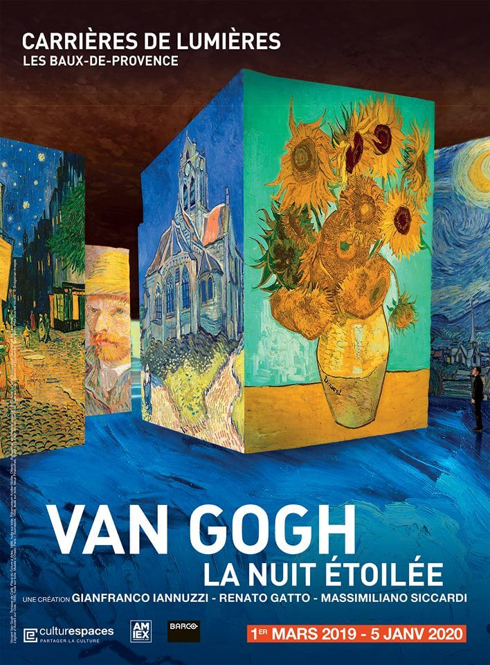 Image result for poster van gogh carrieres des lumieres
