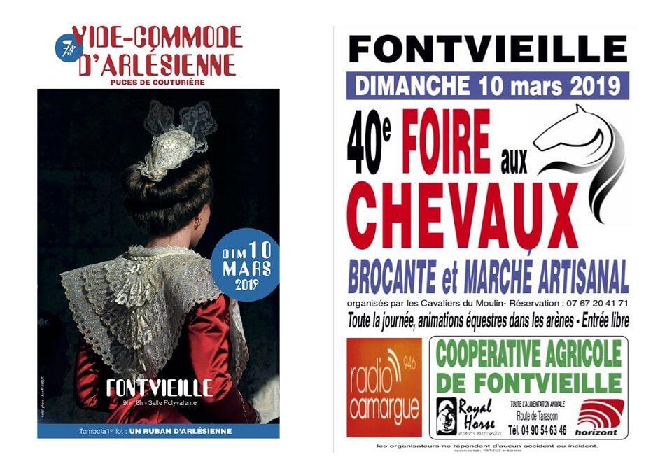 Foire aux chevaux et Vide commode provencale à Fontvieille