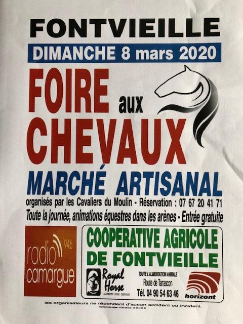 Foire aux chevaux 2020 à Fontvieille