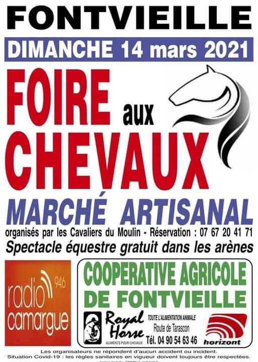 Foire aux chevaux 2021 à Fontvieille, petit village des Alpilles à 10 km d'Arles et de la Camargue