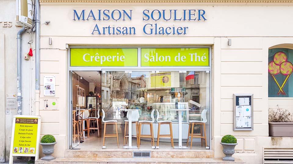glacier artisanal arles Maison Soulier place de la mairie