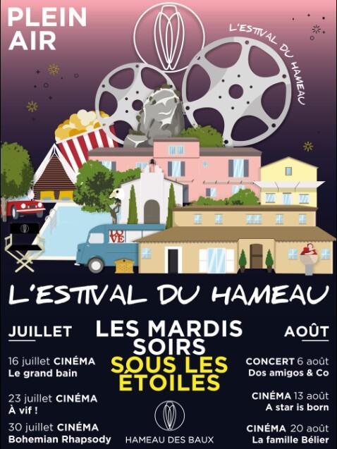 cinéma plein-air Alpilles Estival du Hameau des Baux 2019