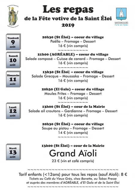 Fête de la Saint Eloi 2019 et Charrette à Saint Etienne du Grès