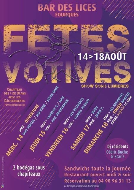 Calendrier Fete Votive 2019 Gard.Fete Votive Fourques 2019 Le Programme Des Festivites