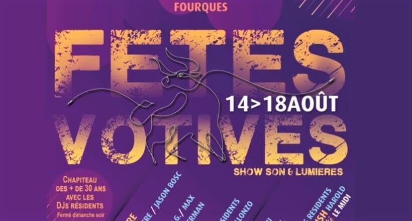 fête votive 2019 à Fourques à côté d'Arles