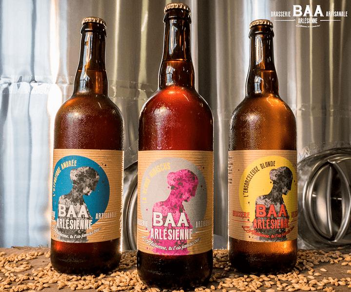 bières bio et naturelles de BAA la Brasserie Artisanale Arlésienne à Arles