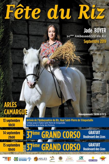 Fête du Riz 2019 à Arles, Grand Corso des Prémices du Riz