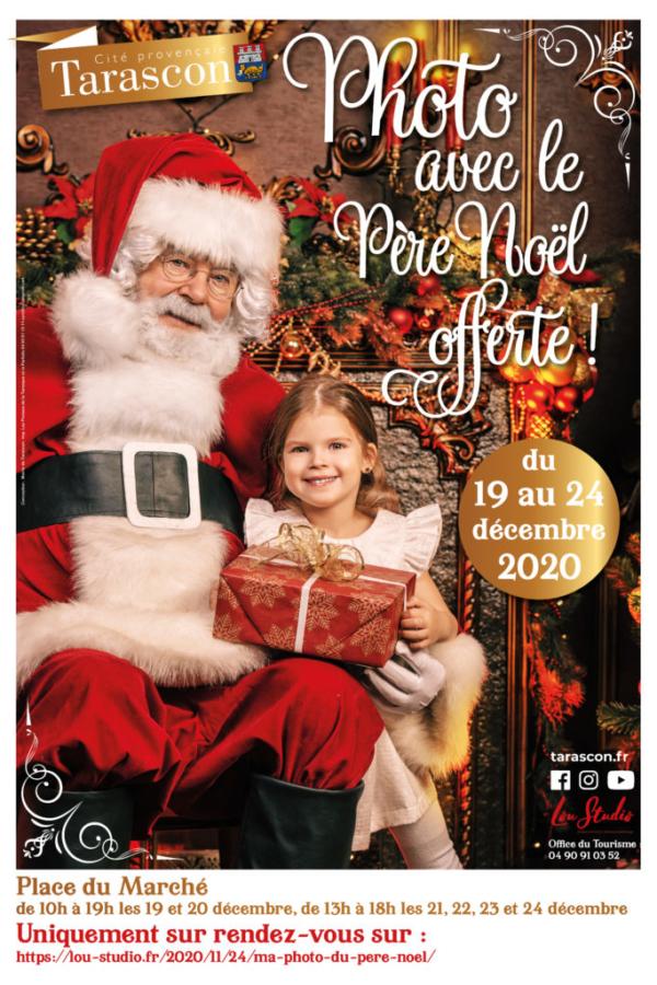 photo avec le Père Noël à Tarascon