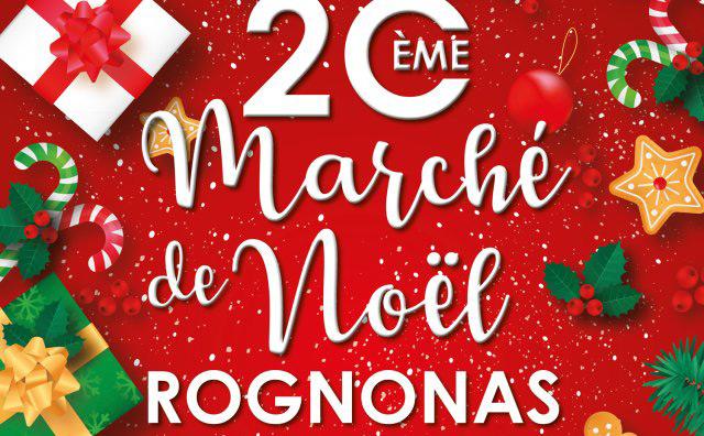 marché de Noël à Rognonas