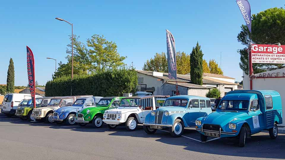 Spécialiste voitures anciennes, 2 cv, Mehari sur les Alpilles et la région d'Arles - Garage Merklen à Saint Rémy de Provence