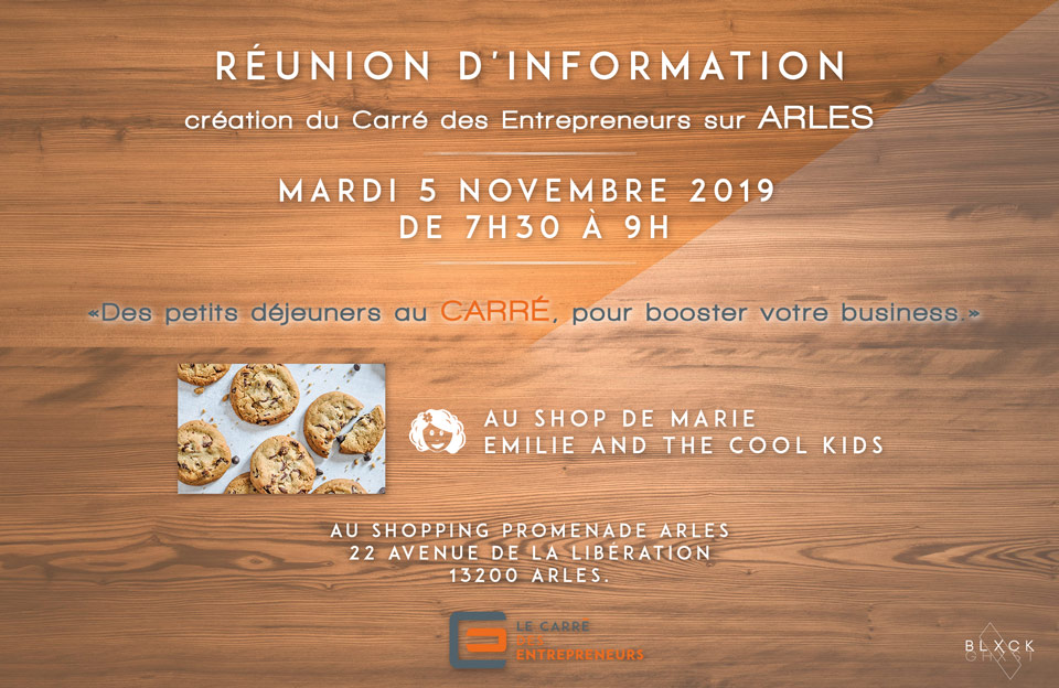 réunion création carré des entrepreneurs à Arles