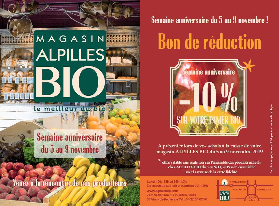 Semaine anniversaire Alpilles Bio 2019 à Saint Rémy de Provence