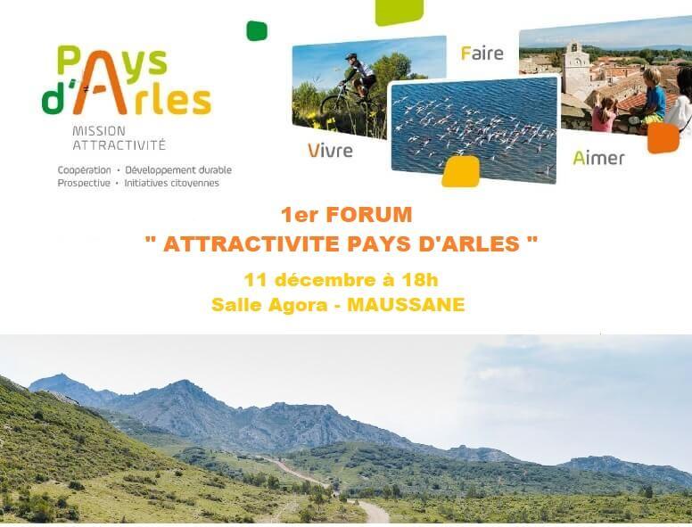 1er Forum de l'Attractivité Pays d'Arles à Maussane le 11 décembre 2019 avec le PETR
