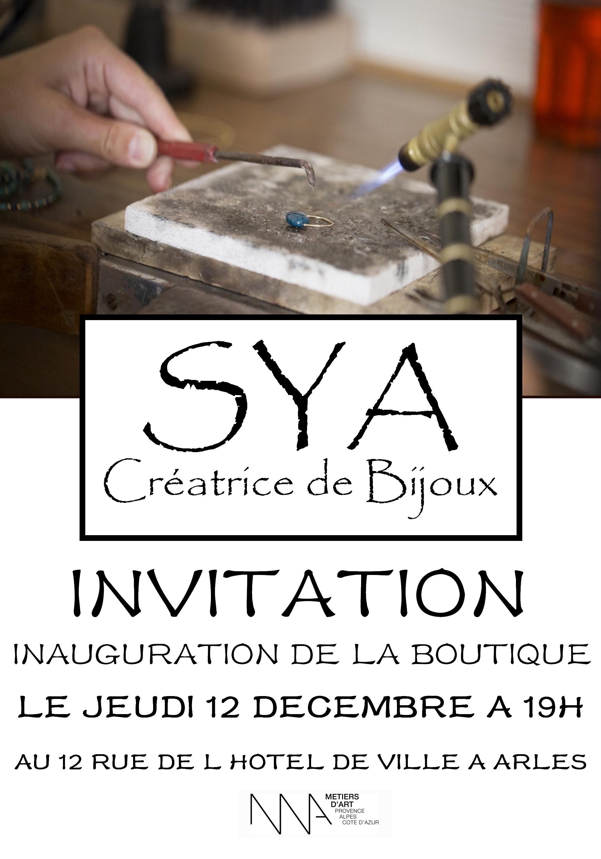 inauguration boutique Sya à Arles