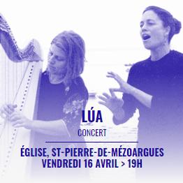 festival Les Suds en Hiver 2021 à Arles - concert Lua à l'église de St Pierre de Mezoargues