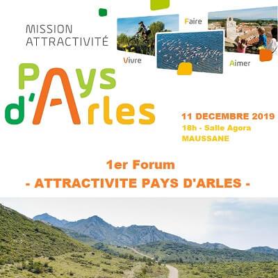 Forum Attractivité du Pays d'Arles le 11 décembre à Maussane