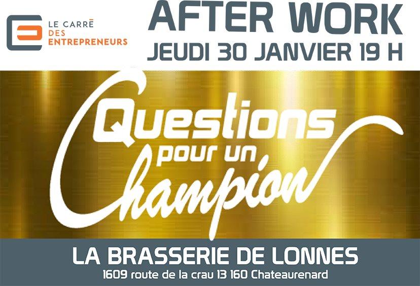 Afterwork Janvier 2020 du Carré des Entrepeneurs Arles et Tarascon à la Brasserie des Lonnes