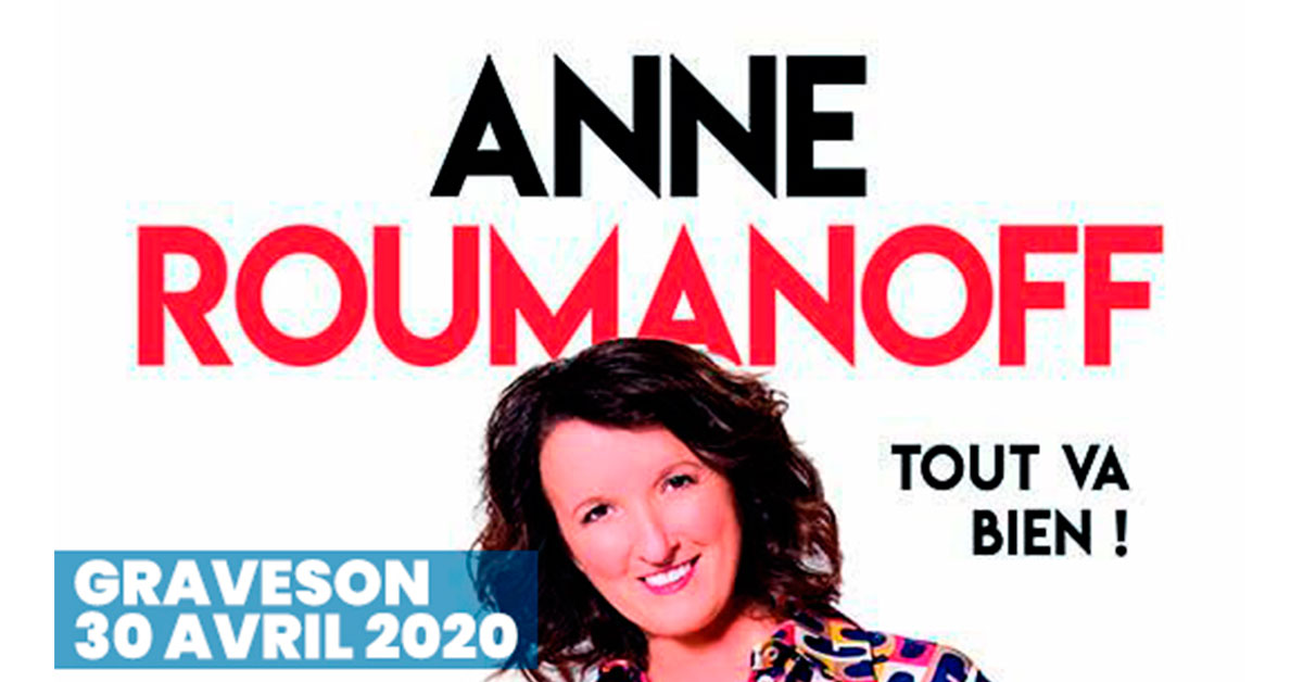 anne roumanoff spectacle 2020 graveson