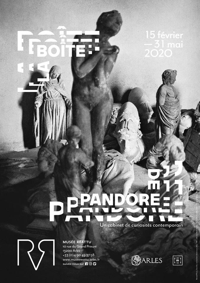 """affiche de l'exposition """" La Boite de Pandore """" au musée Réattu à Arles du 15 février au 31 mai 2020"""