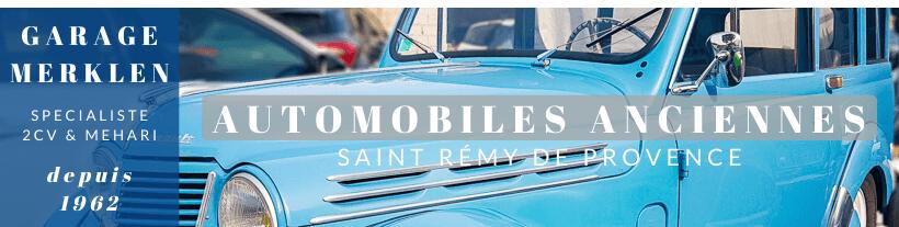automobiles anciennes et vintange au garage Merklen à Saint Rémy de Provence
