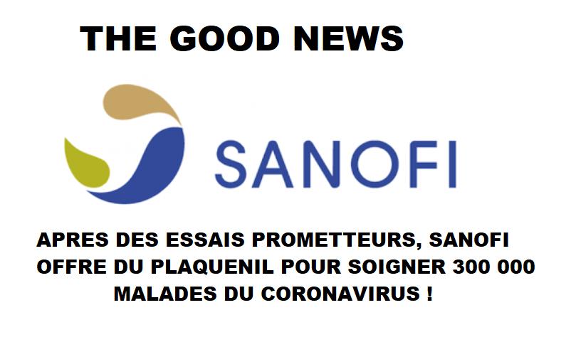 Sanofi offre du Plaquenil pour soigner 300 000 malades du coronavirus