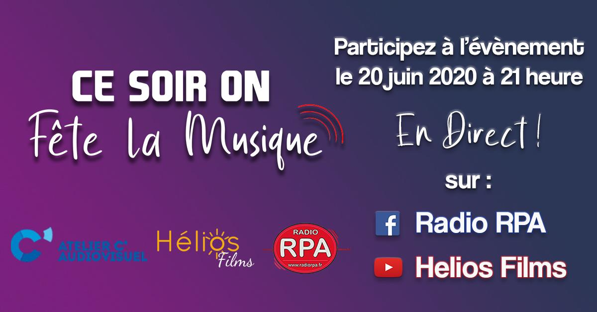 concert Ce soir on fête la Muisque 2020 en facebook live sur Radio RPA et C Audiovisuel